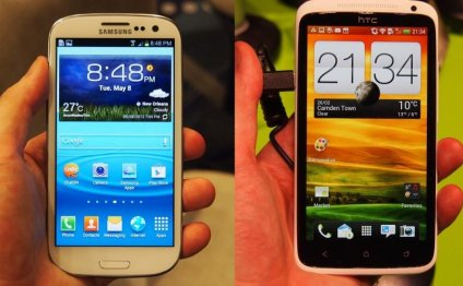 Samsung Galaxy S3 and HTC One