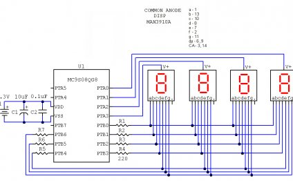 Common Anode 4 digit seven
