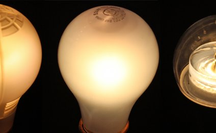 LED light bulbs compared to