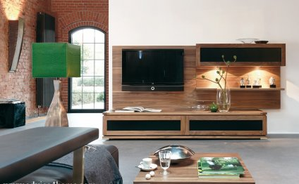 Latest wooden LCD TV wall