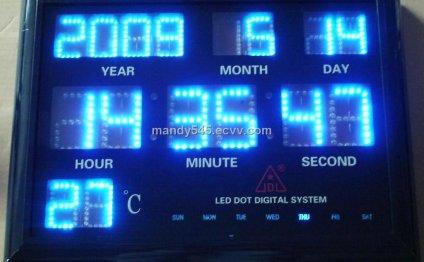 Led digital clock display