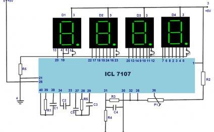 LED Digital Voltmeter Circuit