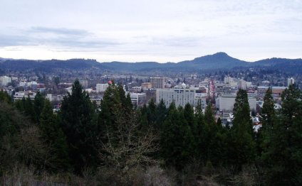 Downtown Eugene s skyline and