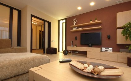 Pale Brown Wall Cabinet LCD
