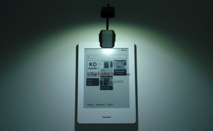 LED eBook Reader Light clip