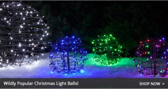 Christmas time light balls