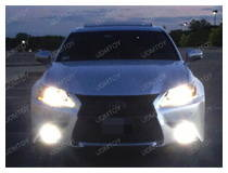 How Lexus GS350 Looks w/ Light-emitting Diode Fog