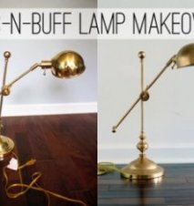 Make over a lamp with rub-n-buff to turn it from inexpensive shiny metal to high priced bronze