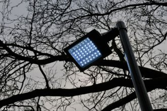 maybe not these types of a bright idea: one of many questionable new LED road lights