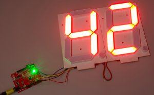 Large 7 segment LED display