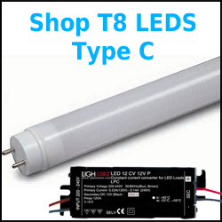 store any kind C T8 LED Tubes