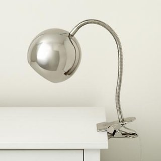 Silver contemporary Clip Lamp