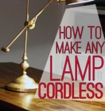 therefore right here's some tutorial on how best to make any corded lamp battery-powered!