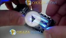 28 Blue LED Lights Long-lasting Army Style LED Watch.avi