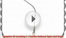 2 x LED Flexible Bedhead Reading Lights Rotating Head With