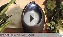 Abstract Tabletop Fountain w/ LED Lights by Serenity