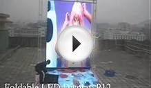 $$ Cheapest price P20 Flexible LED screen outside demo show