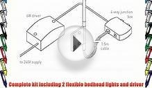 Leyton Lighting 2 LED Bedhead flexible touch sensitive