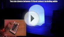Pac Man Ghost Led Colour Changing Lamp with Remote Control