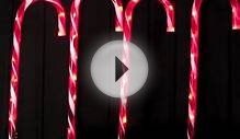 Stake Lights - 4 Large LED Candy Cane Pathway Lighting - 3m